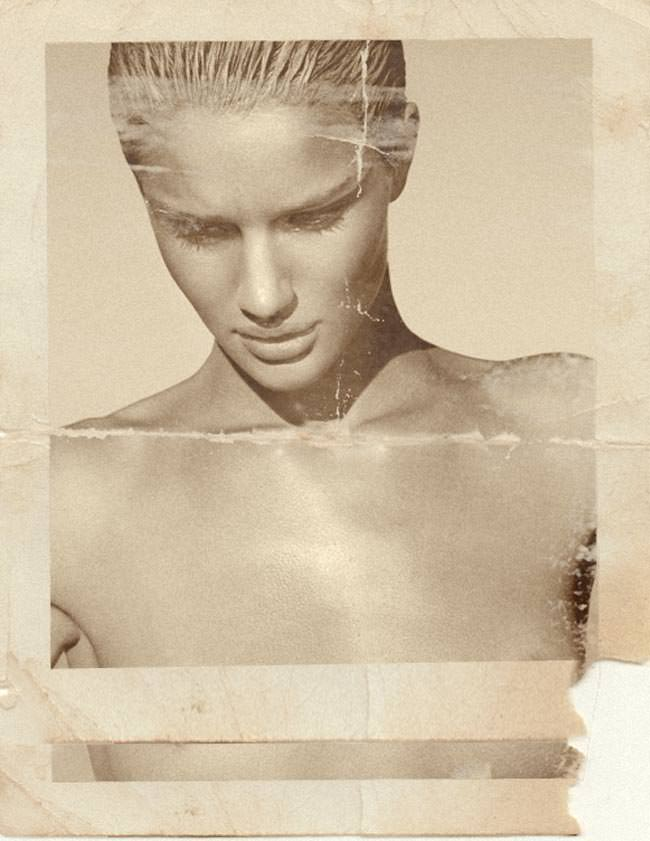 rosie huntington whiteley image look old in photoshop
