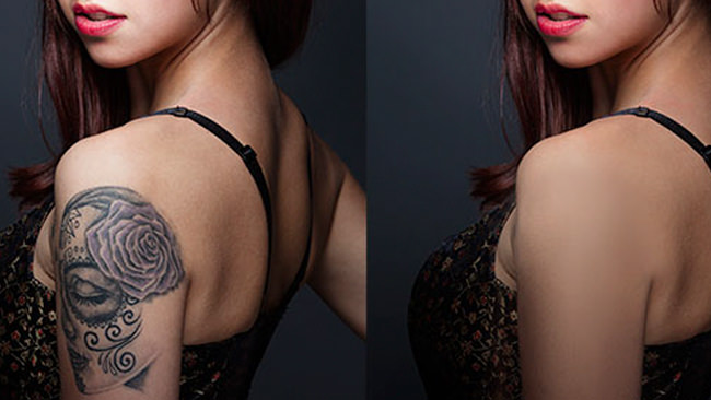Removing a Tattoo in Photoshop