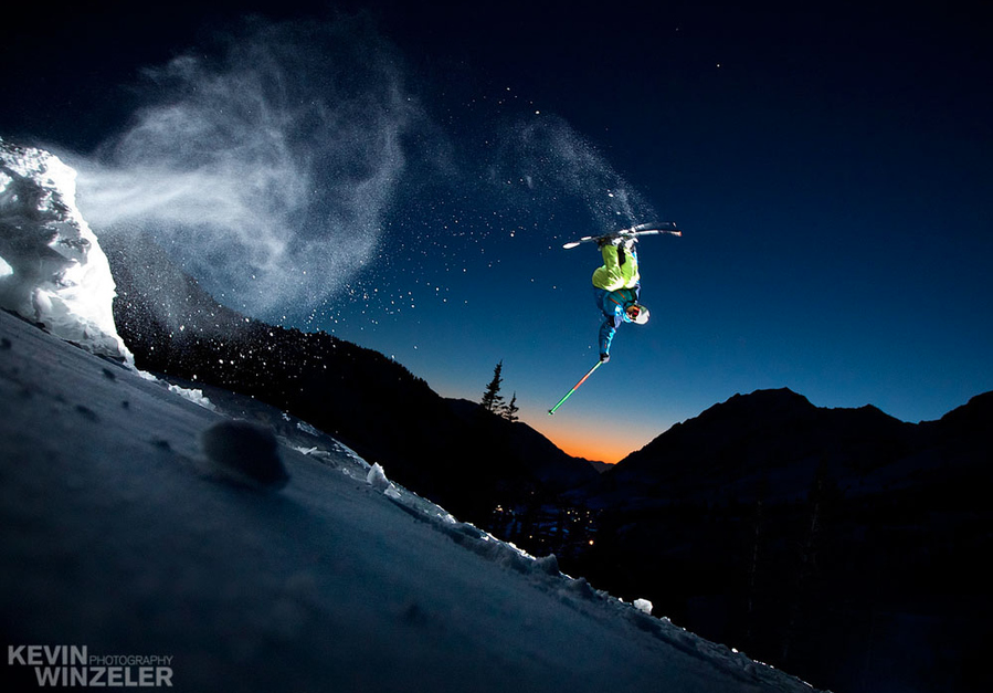 Backcountry Air - Skiing by Kevin Winzeler