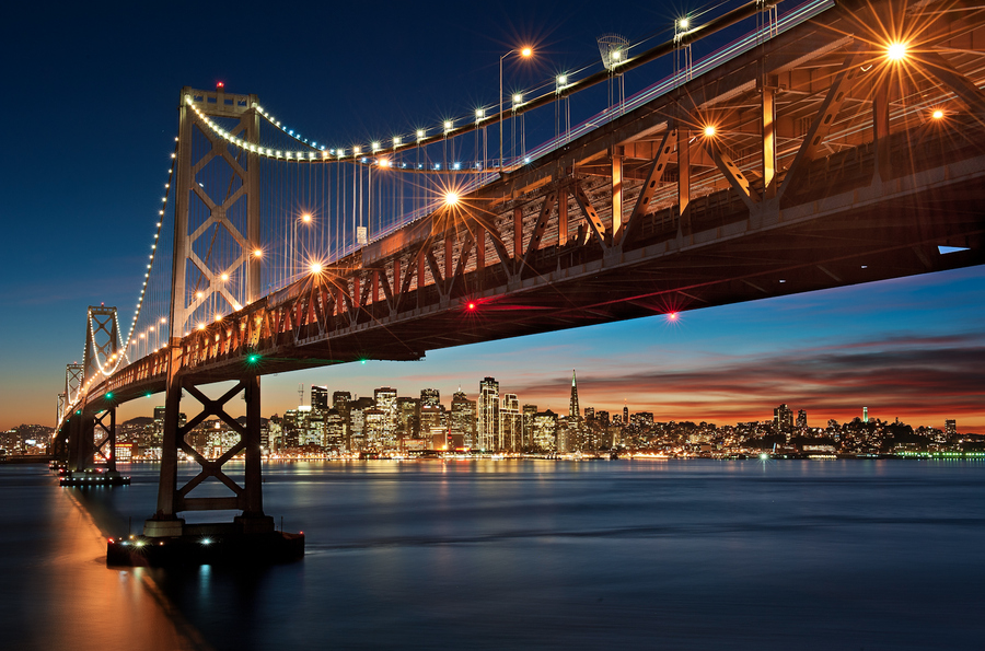Happy Holidays from the Bay Bridge by Aaron M