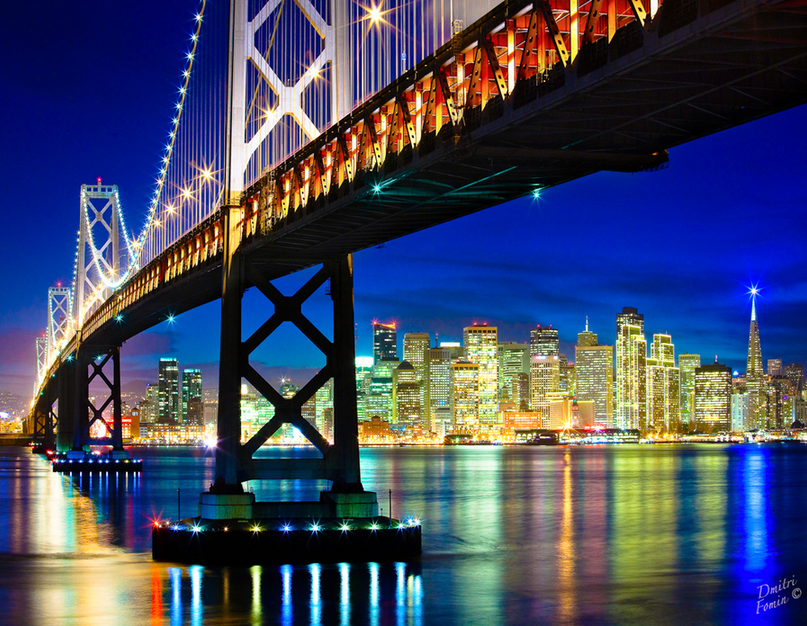 San Francisco holiday lights by Dmitri Fomin