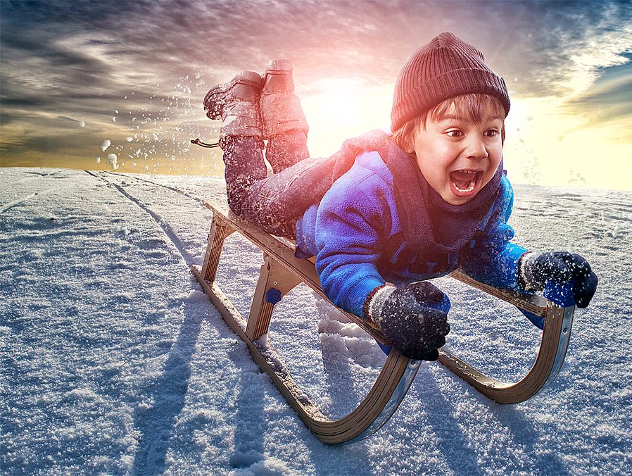 Snow Fun by Adrian Sommeling