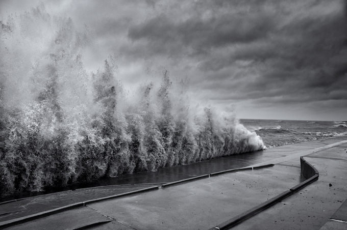 Crazy Chicago Waves by Michael Perry