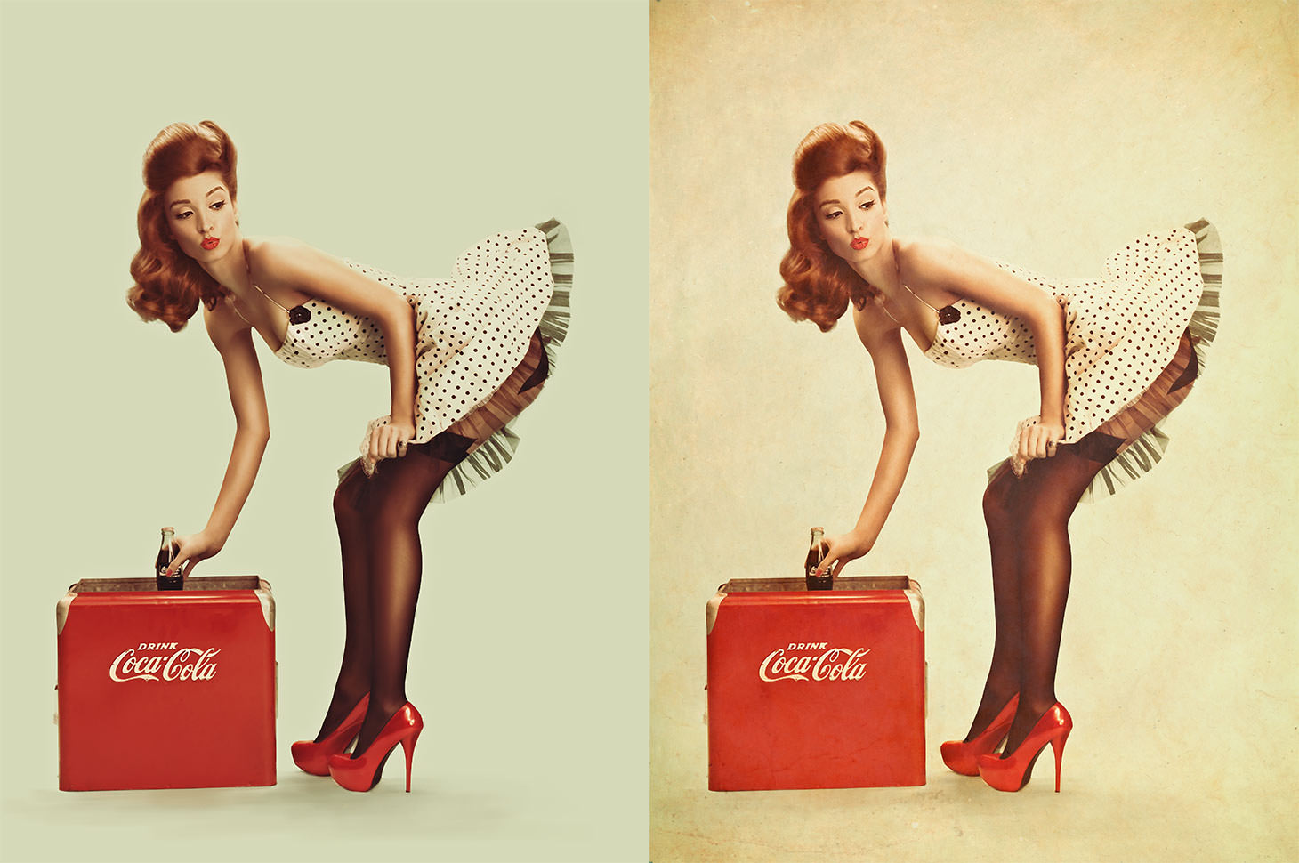 Phlearn PRO Pinup Cola Before After Texture
