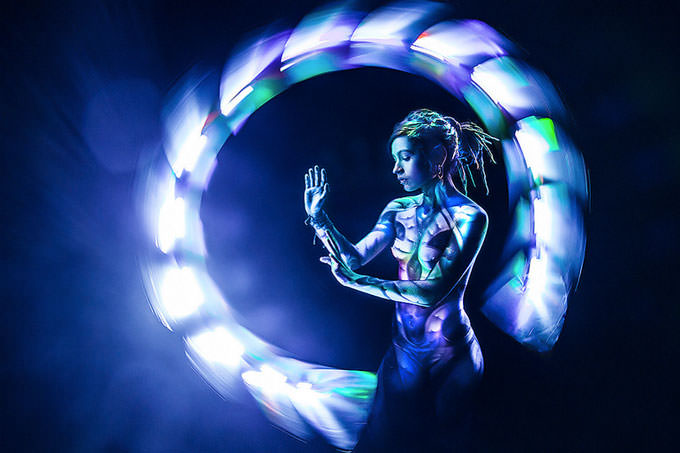 Light painting with Jeanne Sanchez by Eric Paré