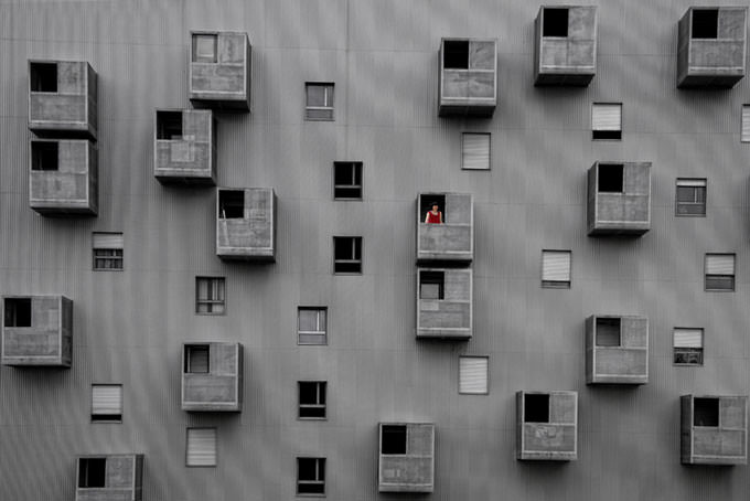 Rear Window by Alfon No