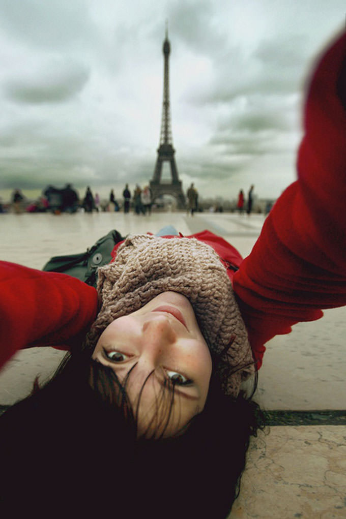 Selfportrait with Eiffel by Nastia irrr Sokolova