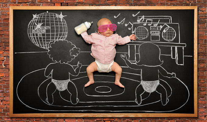 Blackboard Adventures - Baby Party by Anna Eftimie