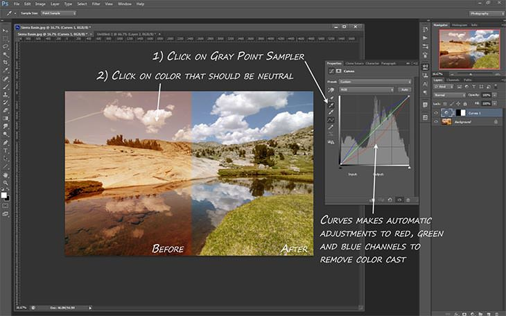 how to add curves only for one layer photoshop