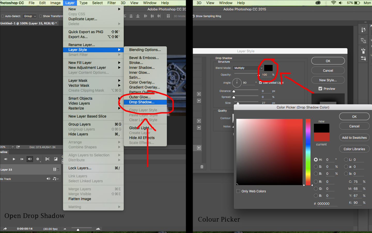 how to change the colour of anythign in photoshop