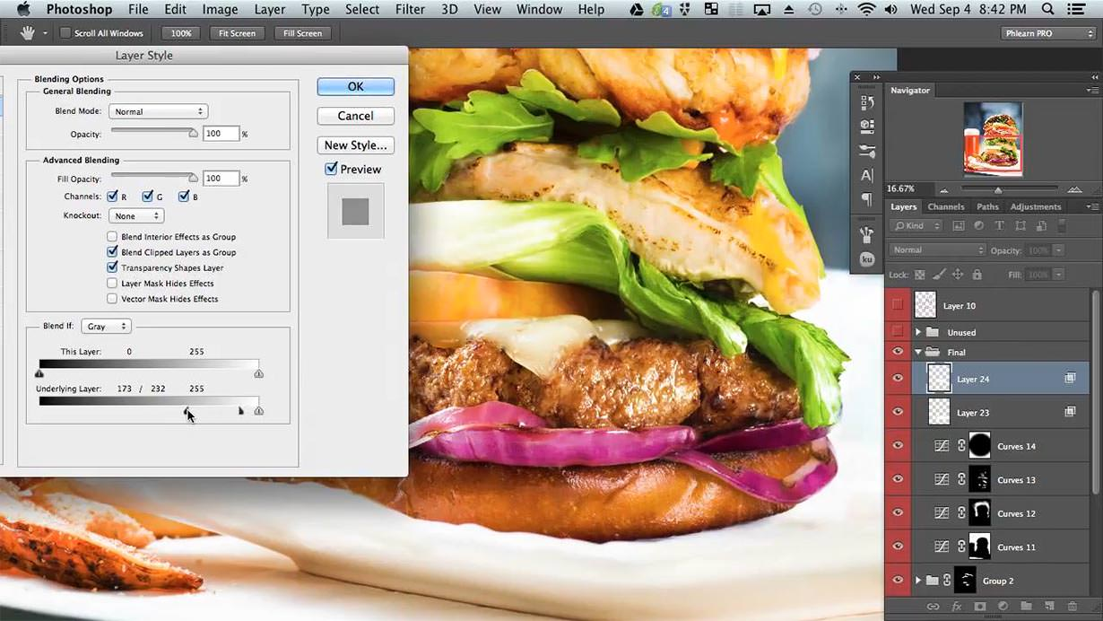 The goal is to make this food look as fresh and tasty as possible. There are a lot of things that can be done in camera to give this look. We can also enhance the shine in Photoshop to help bring the image to life.