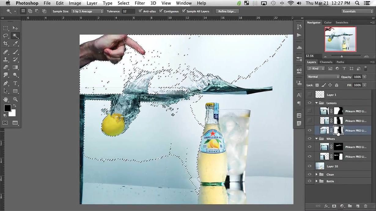 In this first part of this tutorial Rob Grimm shows you everything you need to do in order to perfectly capture water splashing, and in the retouching portion Aaron Nace takes you through selecting out the droplets and bringing everything together.