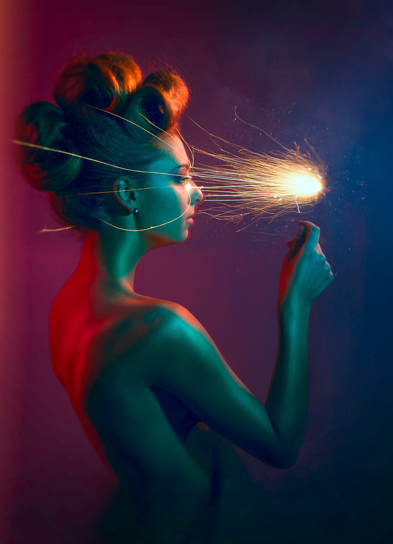 Create a Visual Effects Composite Portrait - Light My Fire - PHLEARN