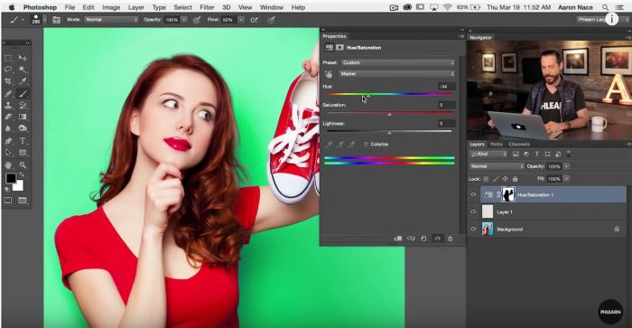 Change layer mask color in Photoshop