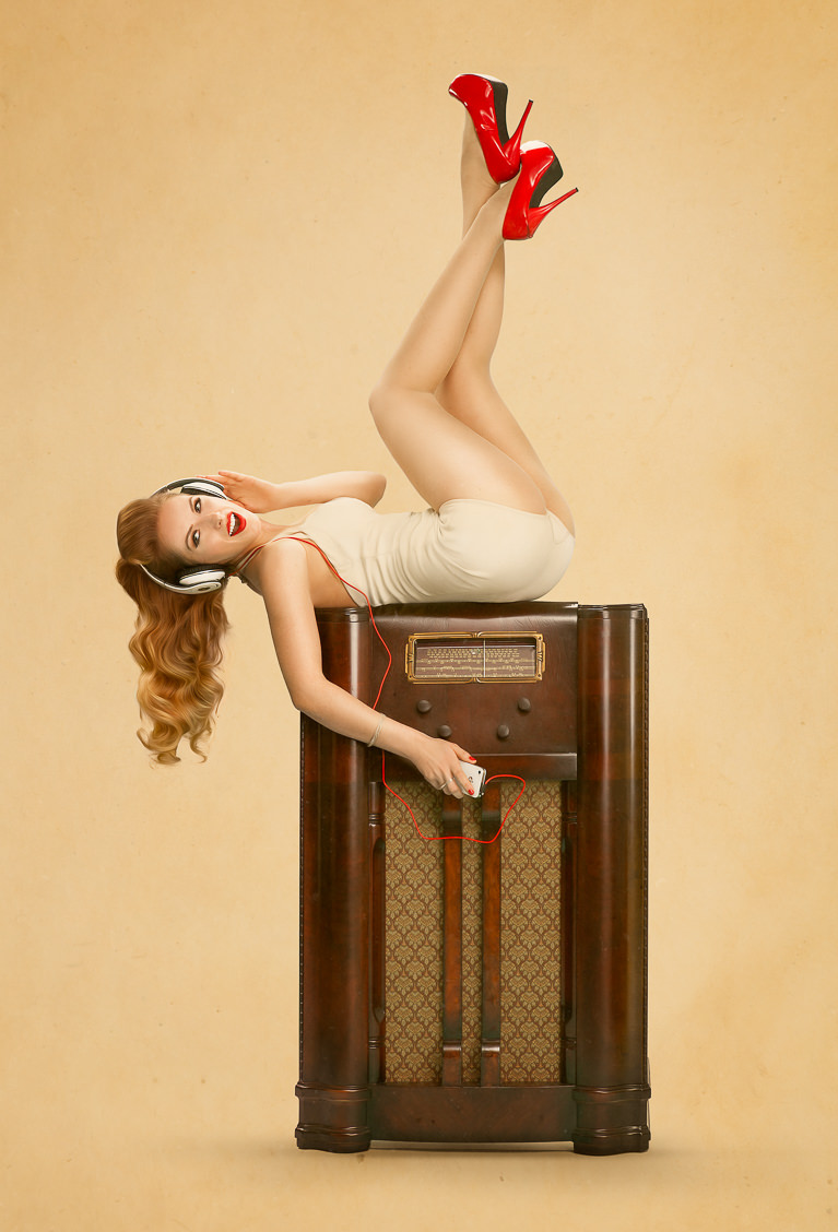 How to process a photo in pin-up style in photoshop