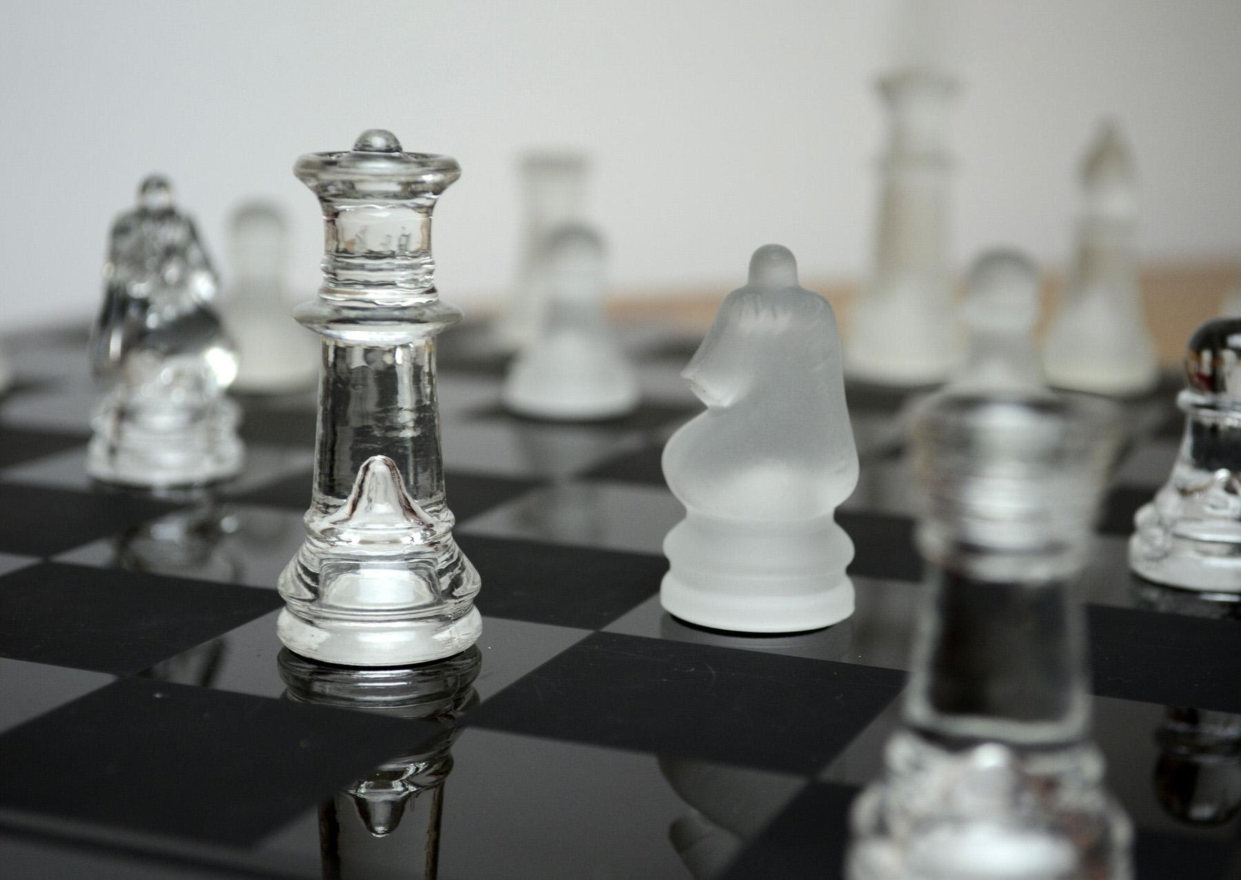 Glass Chess Set Image