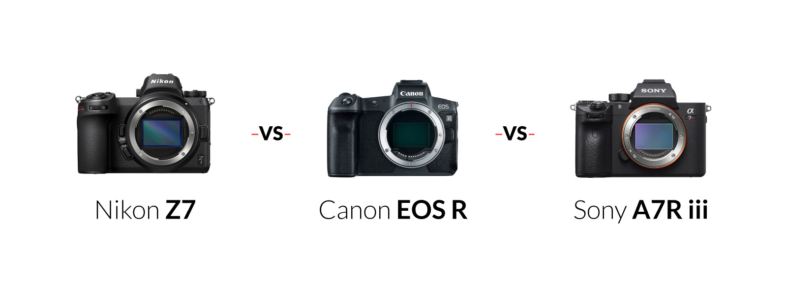 Canon EOS R vs Nikon Z6 & Z7 vs Sony a7R III – Review, Specs & More