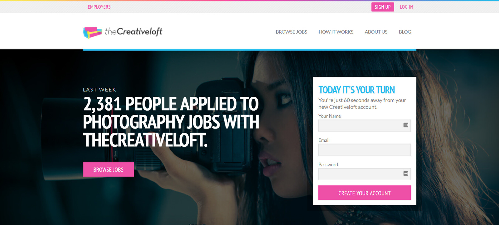find photography jobs on the creative loft