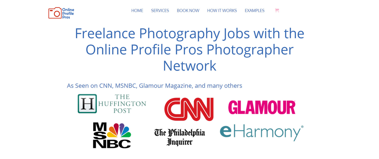 find photography jobs on online profile pros