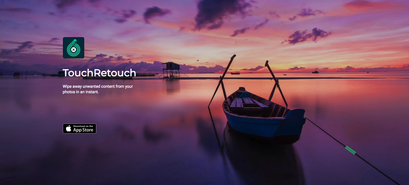 Photo editing apps for iPhone: TouchRetouch