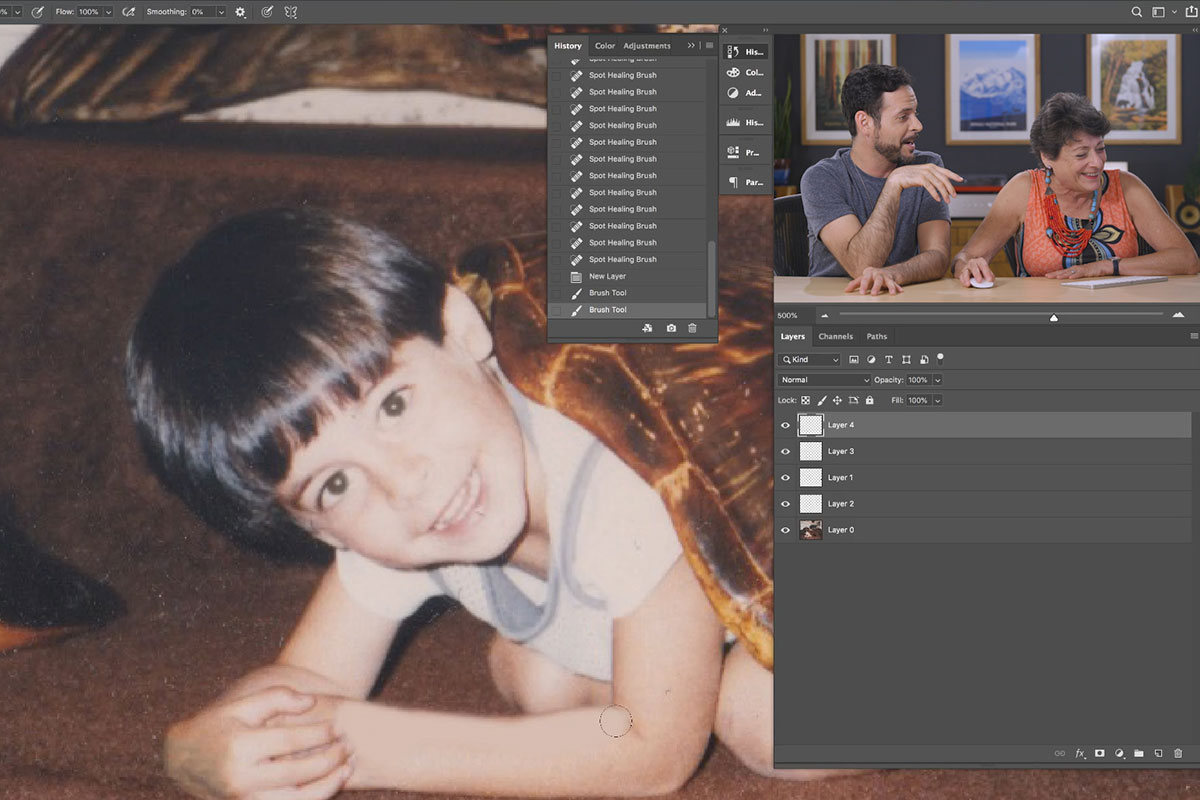 edit childhood photos in photoshop
