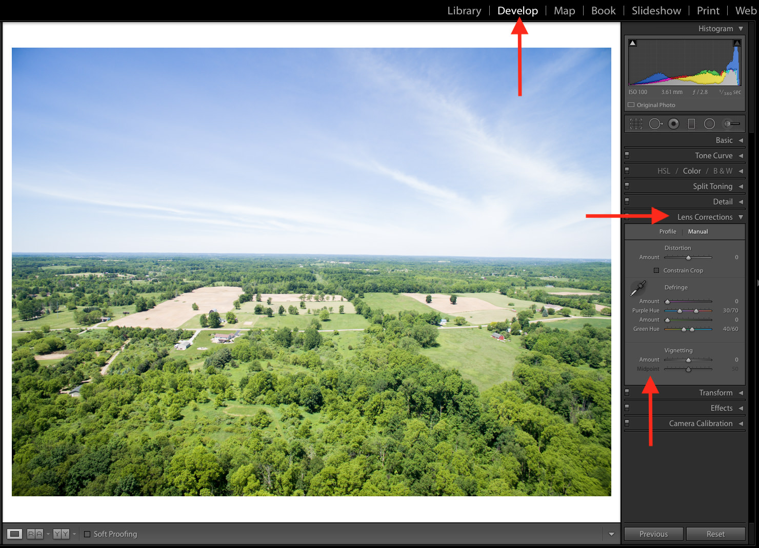Vignetting in Lightroom
