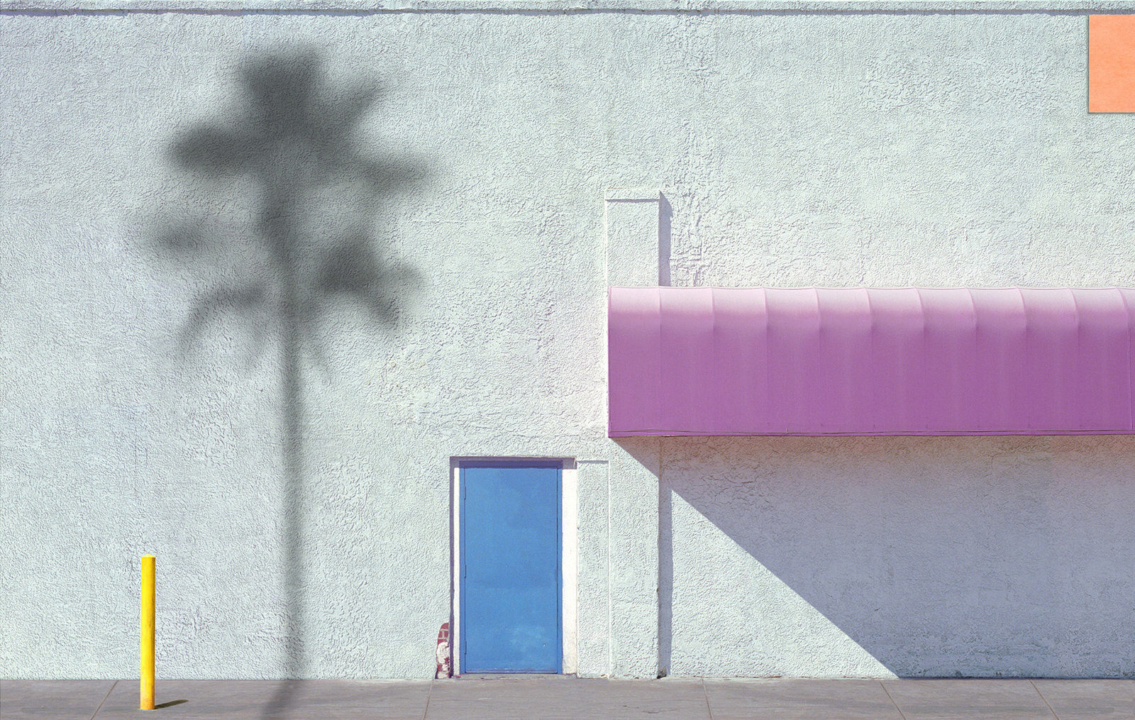 Pink Awning With Orange George Byrne