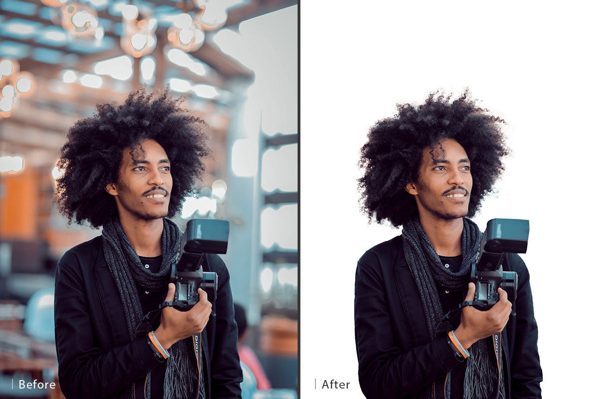 cut out hair before and after 30 days of photoshop