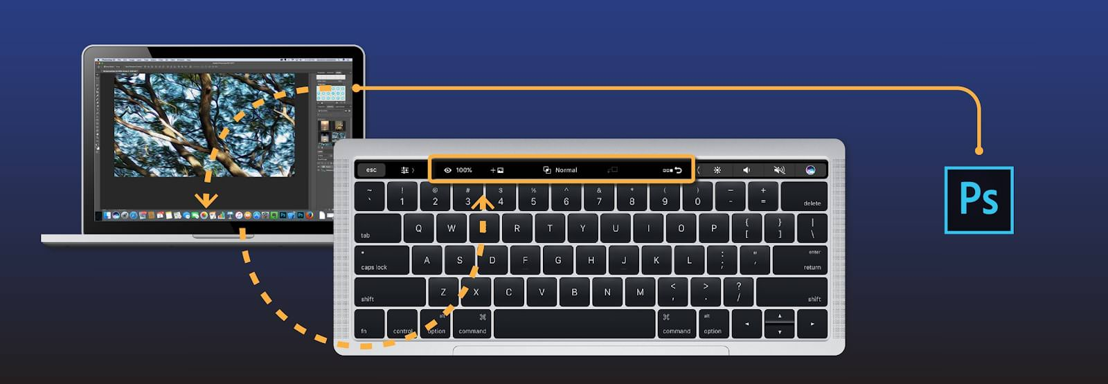 Illustration Touch Bar Photoshop