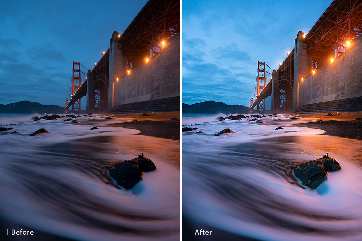 how to give landscape photos more impact before after