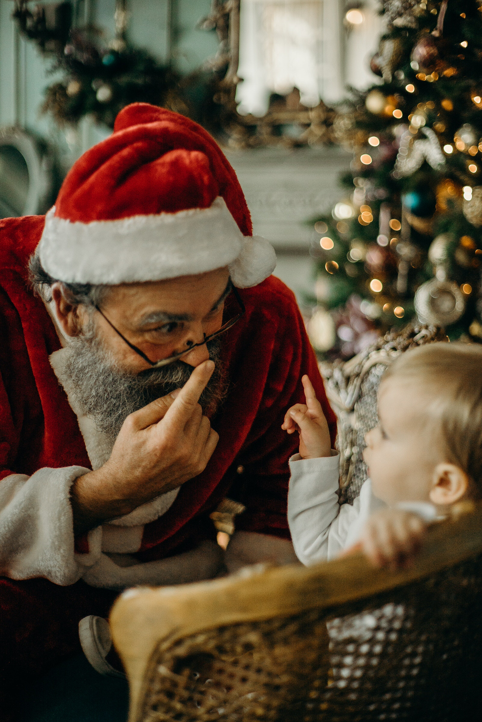 Santa Claus and Child Photo