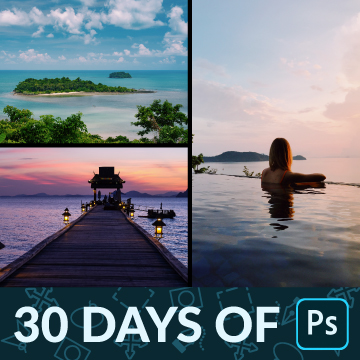 30 days of photoshop photo collage