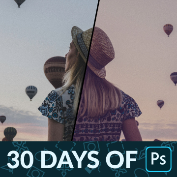 30 days of photoshop how to color grade an image