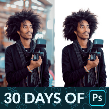 30 days of photoshop how to cut out hair with channels