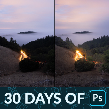 30 days of photoshop how to edit raw landscape images