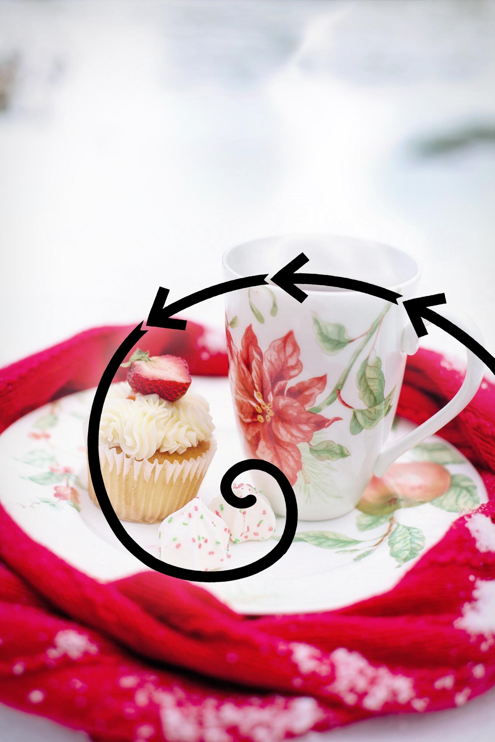 Golden Ratio Food Photography Example Overlay