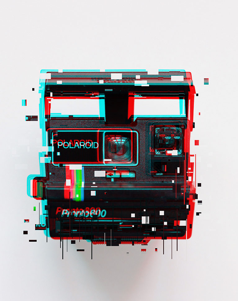 create a glitch effect example 5 after
