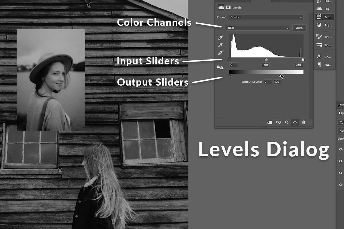 match colors in photoshop black and white levels