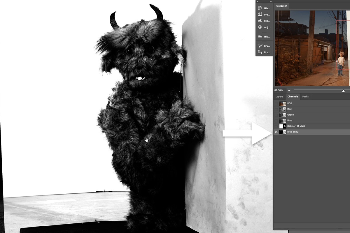 fantasy composite photoshop adding bakster