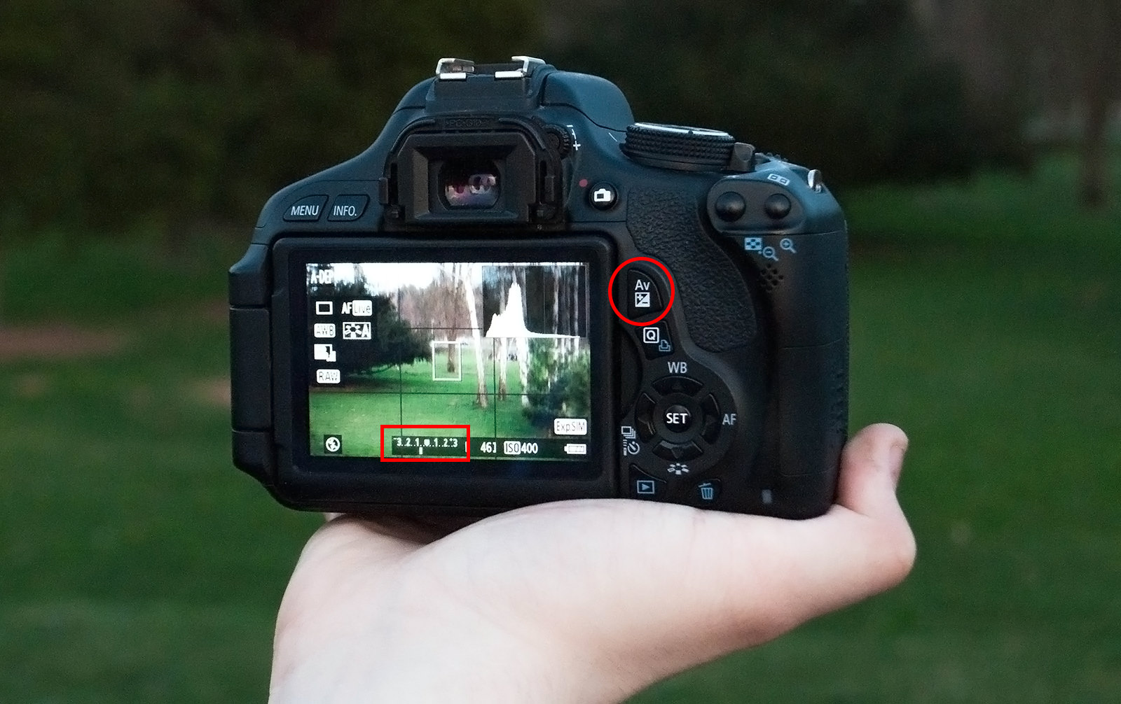 Exposure Compensation Camera Display Image