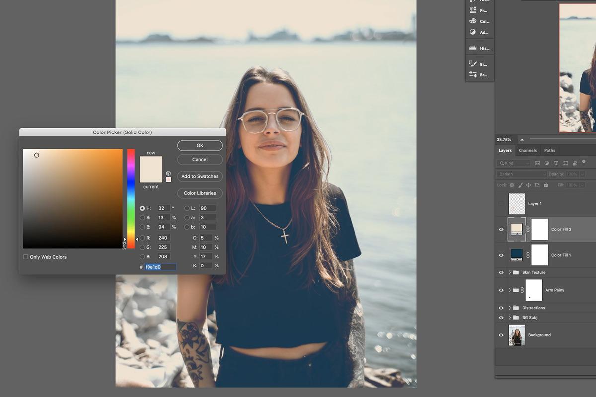 portrait editing photoshop