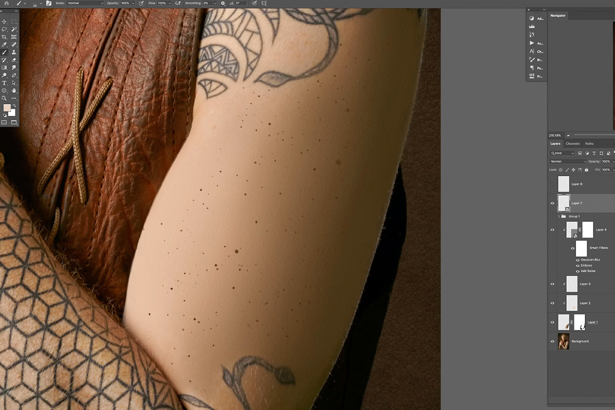 create skin texture from scratch in photoshop