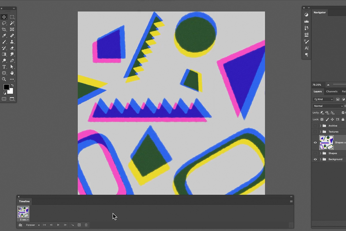 risograph frame animation