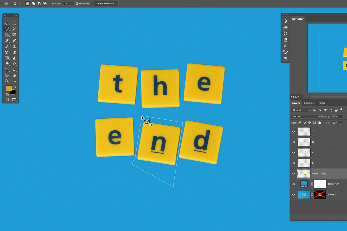 create a simple title animation in photoshop