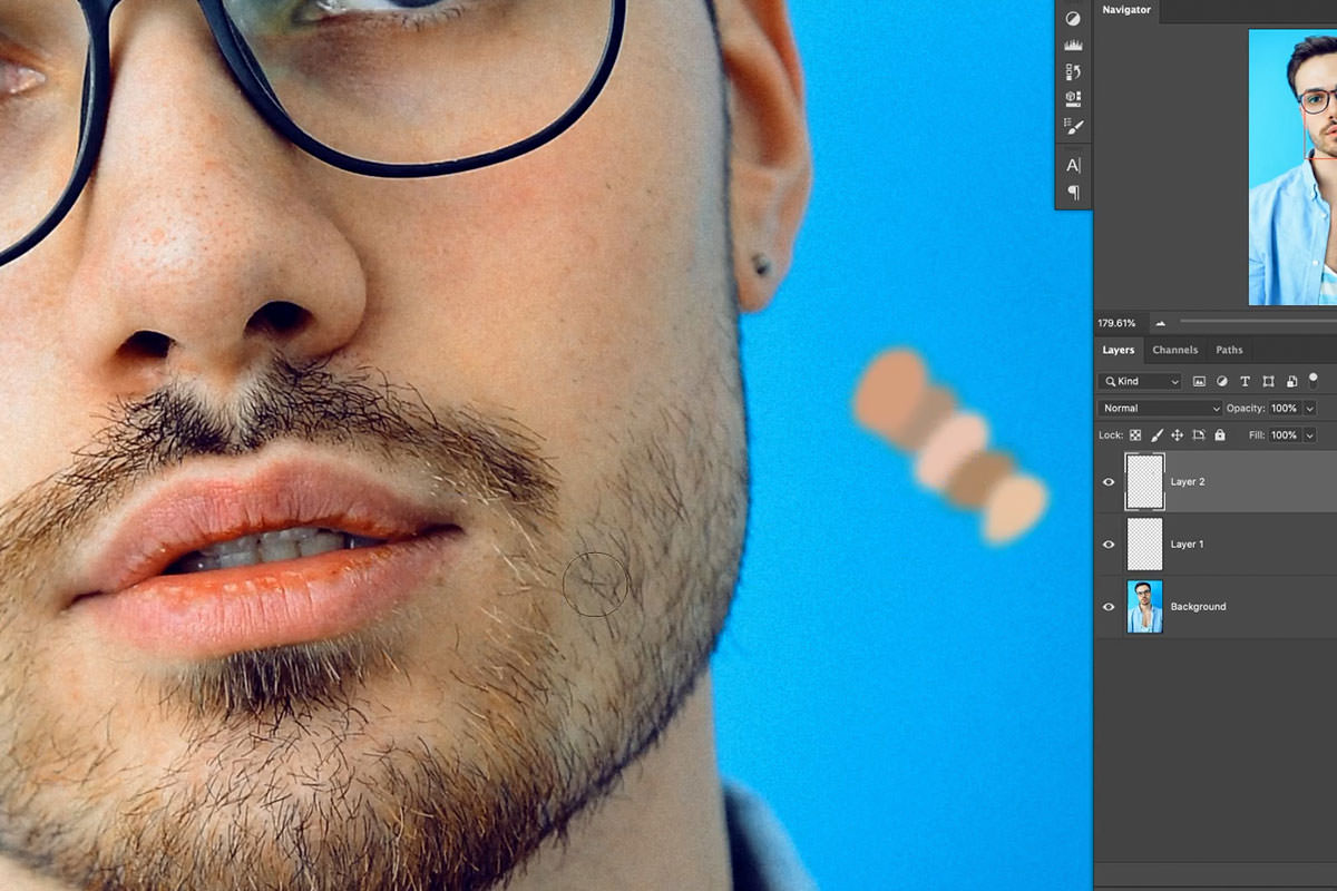 how to remove facial hair photoshop