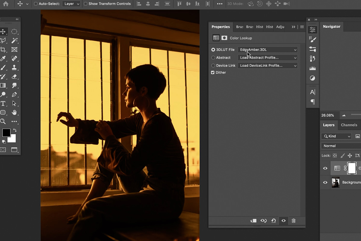 turn day into night photoshop lut