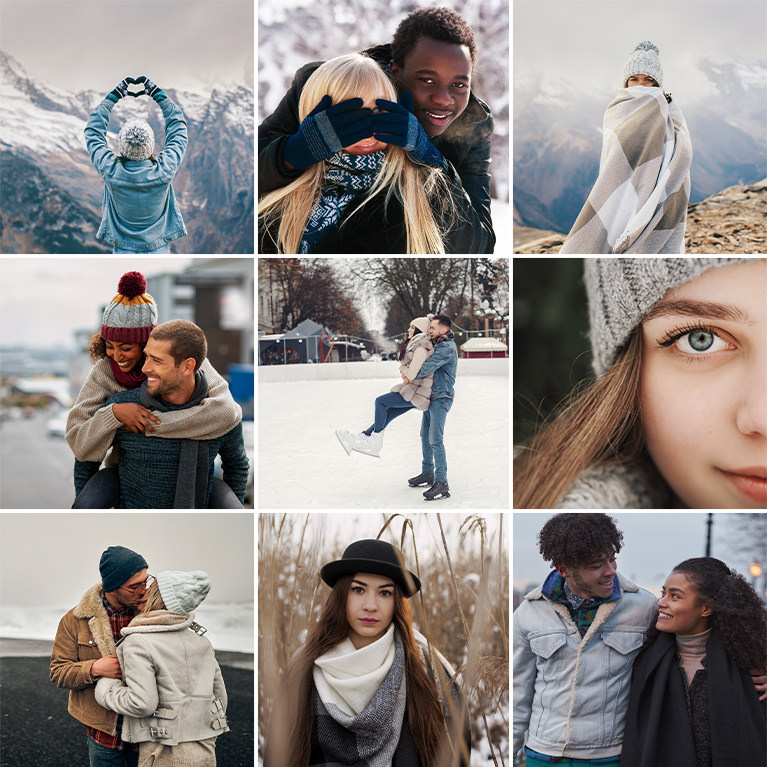 winter color grading luts