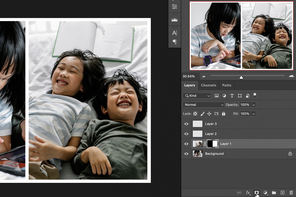 easy collage diptych effect photoshop