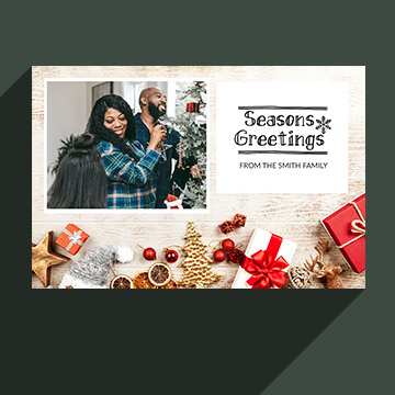 holiday card in photoshop