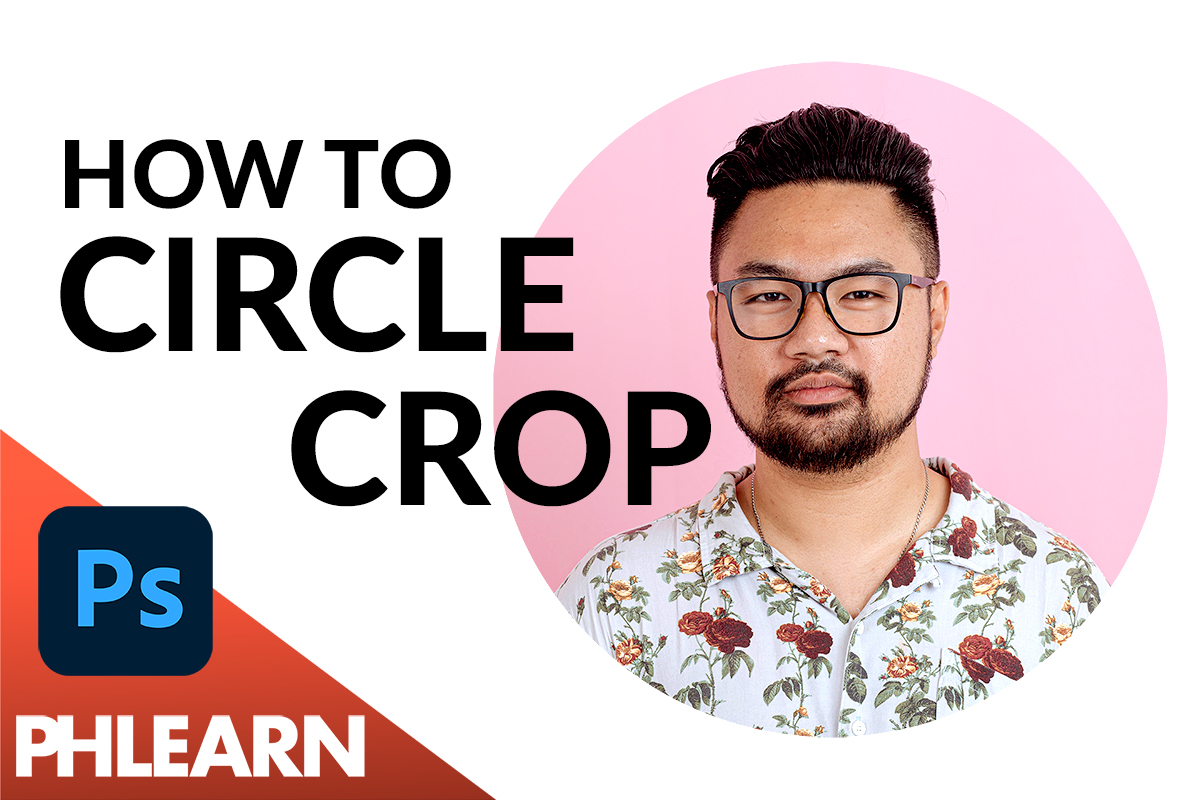 how to circle crop any image in photoshop
